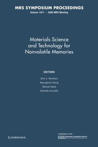 Materials Science and Technology for Nonvolatile Memories: Volume 1071 (MRS Proceedings)-cover