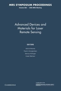 Advanced Devices and Materials for Laser Remote Sensing: Volume 883 (MRS Proceedings)-cover