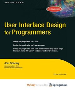 User Interface Design for Programmers-cover