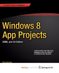 Windows 8 App Projects - XAML and C# Edition-cover