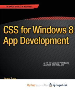CSS for Windows 8 App Development-cover