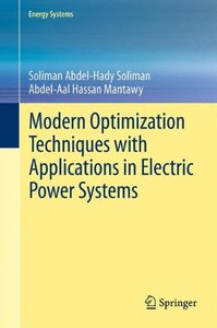 Modern Optimization Techniques with Applications in Electric Power Systems (Energy Systems)-cover