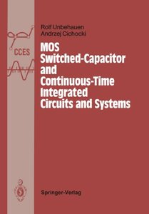 MOS Switched-Capacitor and Continuous-Time Integrated Circuits and Systems: Analysis and Design (Communications and Control Engineering)-cover