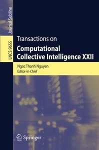 Transactions on Computational Collective Intelligence XXII (Lecture Notes in Computer Science)-cover