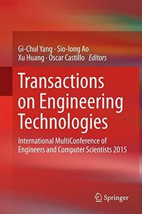 Transactions on Engineering Technologies: International MultiConference of Engineers and Computer Scientists 2015-cover