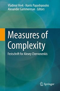 Measures of Complexity: Festschrift for Alexey Chervonenkis-cover