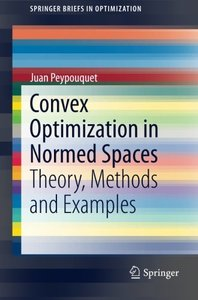 Convex Optimization in Normed Spaces: Theory, Methods and Examples (SpringerBriefs in Optimization)