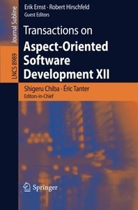 Transactions on Aspect-Oriented Software Development XII (Lecture Notes in Computer Science)-cover