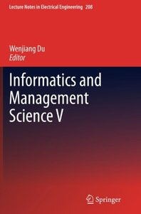Informatics and Management Science V (Lecture Notes in Electrical Engineering)-cover