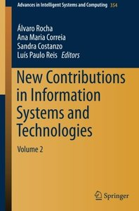 New Contributions in Information Systems and Technologies: Volume 2 (Advances in Intelligent Systems and Computing)-cover