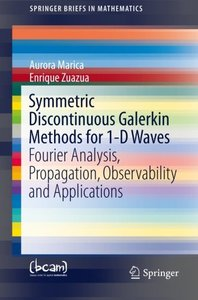 Symmetric Discontinuous Galerkin Methods for 1-D Waves: Fourier Analysis, Propagation, Observability and Applications (SpringerBriefs in Mathematics)-cover
