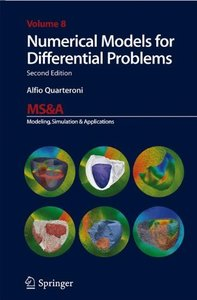 Numerical Models for Differential Problems (MS&A)-cover