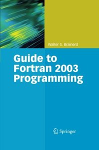 Guide to Fortran 2003 Programming-cover