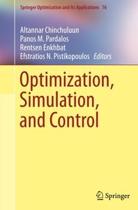 Optimization, Simulation, and Control (Springer Optimization and Its Applications)-cover