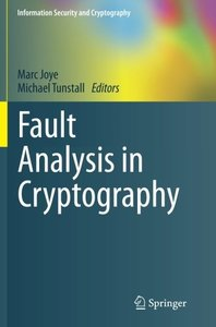 Fault Analysis in Cryptography (Information Security and Cryptography)-cover