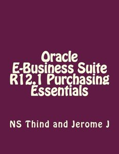 Oracle E-Business Suite R12.1 Purchasing Essentials-cover