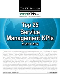 Top 25 Service Management KPIs of 2011-2012-cover