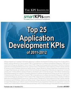 Top 25 Application Development KPIs of 2011-2012-cover