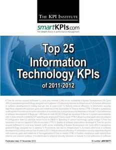 Top 25 Information Technology KPIs of 2011-2012-cover