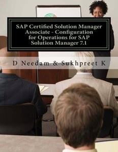 SAP Certified Solution Manager Associate - Configuration for Operations for SAP Solution Manager 7.1-cover