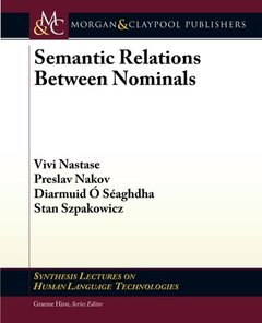 Semantic Relations Between Nominals (Synthesis Lectures on Human Language Technologies)-cover