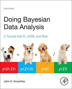 Doing Bayesian Data Analysis: A Tutorial with R, JAGS, and Stan (2nd Edition)-cover