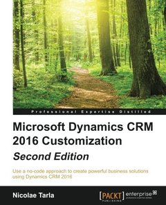 Microsoft Dynamics CRM 2016 Customization - Second Edition-cover