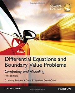 Differential Equations and Boundary Value Problems: Computing and Modeling, 5/e (IE-Paperback)-cover