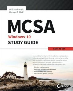 MCSA Microsoft Windows 10 Study Guide: Exam 70-697-cover