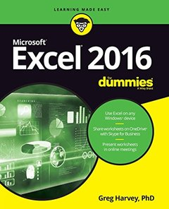 Excel 2016 For Dummies-cover