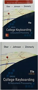 Gregg College Keyboarding & Document Processing, Gdp + Microsoft Word 2016 Manual Kit 1 - Lessons 1-60-cover