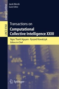 Transactions on Computational Collective Intelligence XXIII (Lecture Notes in Computer Science)-cover