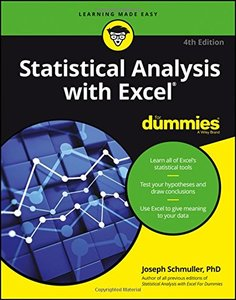 Statistical Analysis with Excel For Dummies (For Dummies (Computer/Tech))-cover