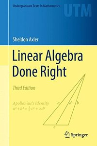 Linear Algebra Done Right (Hardcover)-cover