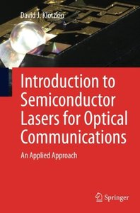 Introduction to Semiconductor Lasers for Optical Communications: An Applied Approach (Paperback)-cover