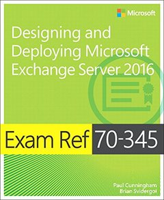 Exam Ref 70-345 Designing and Deploying Microsoft Exchange Server 2016-cover