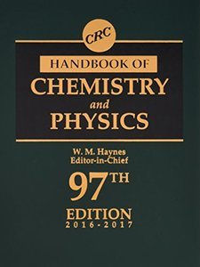 CRC Handbook of Chemistry and Physics, 97th Edition-cover