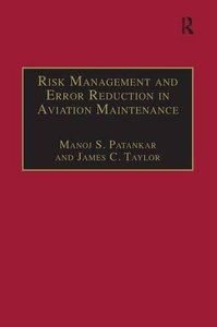 Risk Management and Error Reduction in Aviation Maintenance-cover