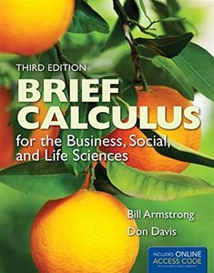 Brief Calculus: for the Business, Social, and Life Sciences, 3/e【內含註冊碼,刮除不受退】-cover