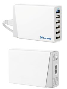 anidees 安億迪 QC2.0 AI-Charger 6+ 智能充電器(6 ports 12A 60W USB Charger)-cover