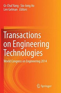 Transactions on Engineering Technologies: World Congress on Engineering 2014-cover