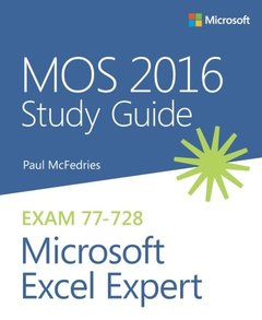 MOS 2016 Study Guide for Microsoft Excel Expert (MOS Study Guide)-cover