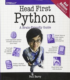 Head First Python: A Brain-Friendly Guide, 2/e (Paperback)-cover