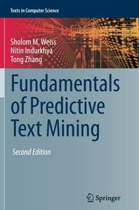 Fundamentals of Predictive Text Mining (Texts in Computer Science)-cover