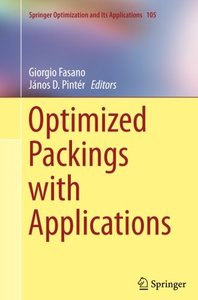 Optimized Packings with Applications (Springer Optimization and Its Applications)-cover