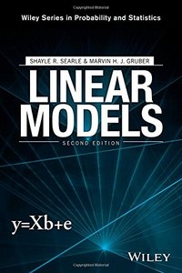 Linear Models (Wiley Series in Probability and Statistics) 2/e-cover