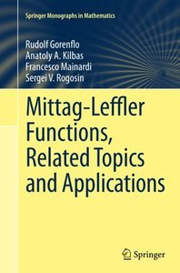 Mittag-Leffler Functions, Related Topics and Applications (Springer Monographs in Mathematics)-cover