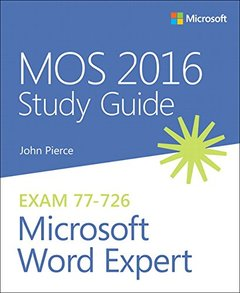 MOS 2016 Study Guide for Microsoft Word Expert (MOS Study Guide)-cover