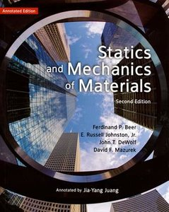 Statics and Mechanics of Materials, 2/e (Beer靜力與材料力學導讀本)(授權經銷版)-cover