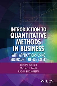 Introduction to Quantitative Methods in Business: With Applications Using Microsoft Office Excel(Hardcover)-cover